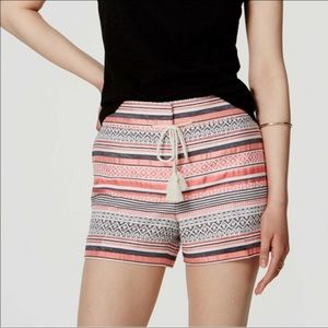 """Striped Drawstring Riviera Shorts With 4"""" Inseam"""